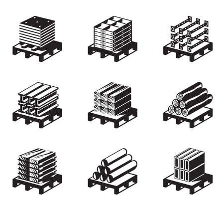 Materiały budowlane, materiały budowlane - ilustracji wektorowych Ilustracje wektorowe