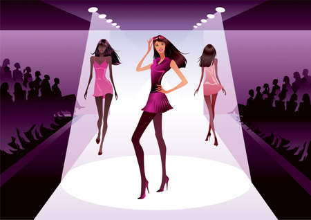 852 Fashion Runway Stock Vector Illustration And Royalty Free ...