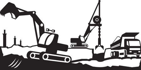 bagger: Building excavation and transport equipment