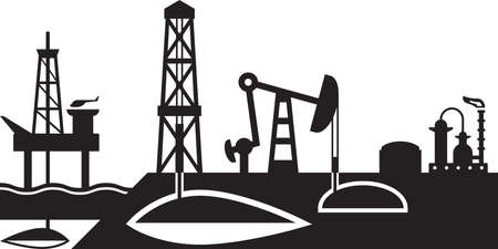 extraction: Extraction and processing of oil scene