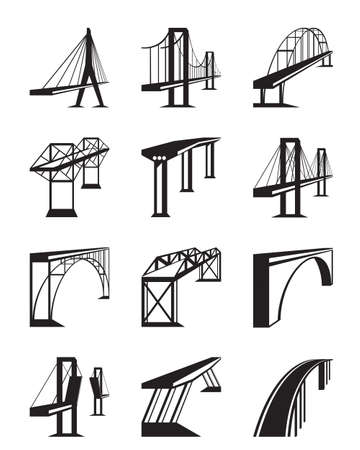 Various types of bridges in perspective Imagens - 42897910