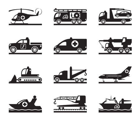 fire truck: Vehicles for accidents and emergencies Illustration