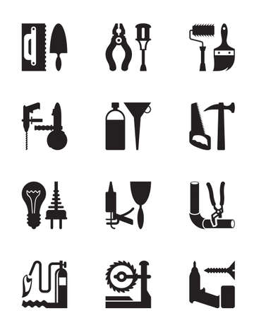 power tools: Instruments and power tools for construction Illustration