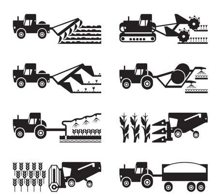 agricultura: El cultivo y la cosecha de cultivos de la agricultura