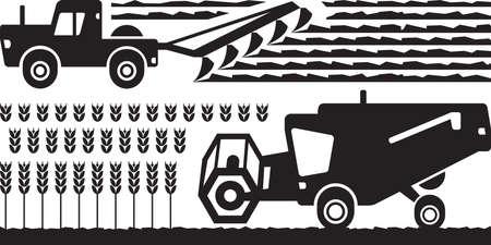 labranza: Agricultural machinery farm - vector illustration