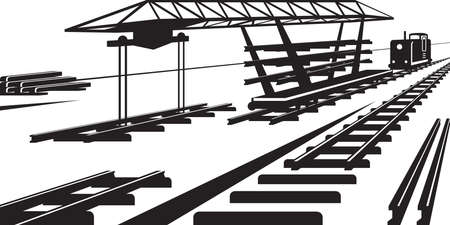 railway track: Construction of railway track - illustration
