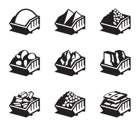 Behälter mit Baustoffen - Illustration Standard-Bild - 55140355