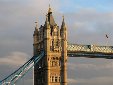 architectural  detail: Architectural detail of Tower Bridge in London