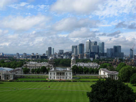 greenwich: View of London from Greenwich, United Kingdom