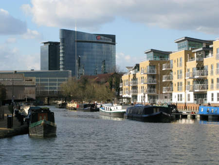 brent: Brentford Marina, River Brent, Brentford,  London, UK,