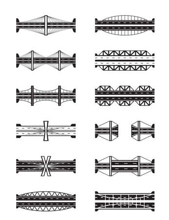 metal industry: Various types of bridges viewed from above