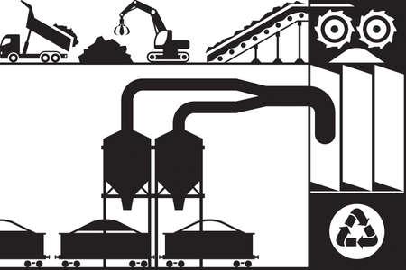 Recycling and processing of scrap metal Banco de Imagens - 76449961