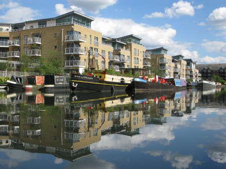 brent: Boats in Brentford Marina, London, UK,