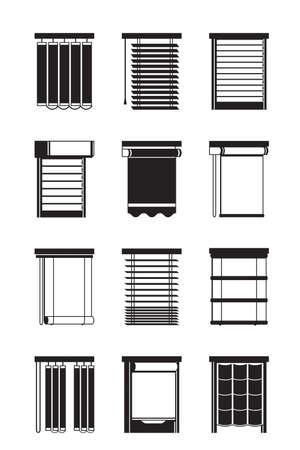Verschillende binnentafels - vectorillustratie Vector Illustratie