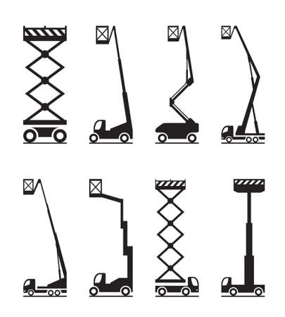 Industrial lifting equipment vector illustration.