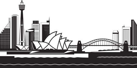Sydney skyline by day - vector illustration