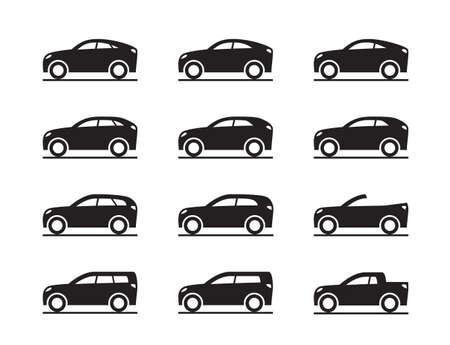 Different sport utility vehicles - vector illustration Illustration