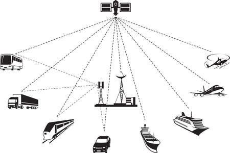 GPS navigation of passenger and freight transport.
