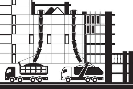Collection of construction waste - vector illustration