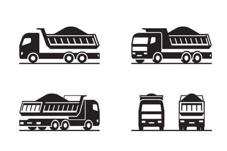 Camion à benne basculante dans une perspective différente - illustration vectorielle