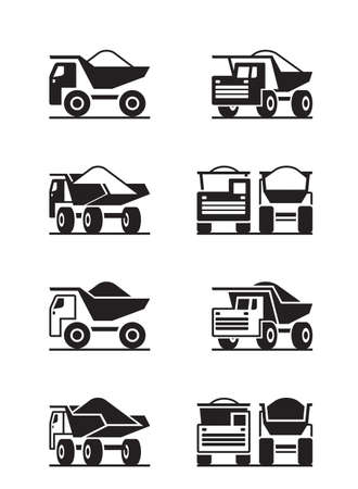 Heavy duty truck in different perspective