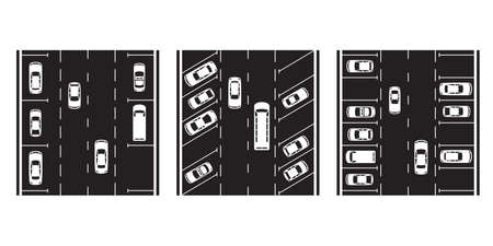 Different types of car parking spaces Иллюстрация