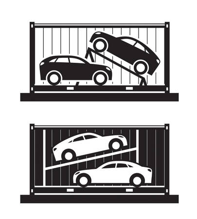 Car shipping container - vector illustration Illusztráció