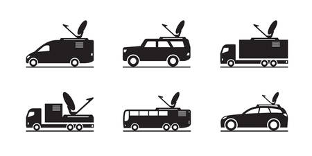 Transmission and broadcasting vehicles