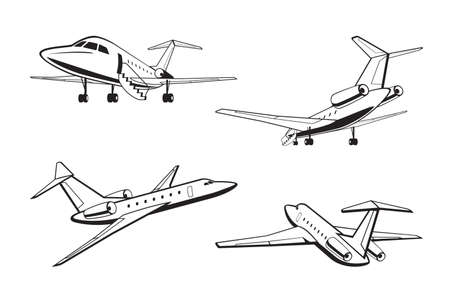 Small passenger aircraft in perspective