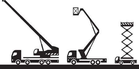 Construction lifting machinery – vector illustration
