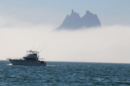 Haze at sea Фото со стока