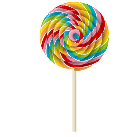 isolated swirl colorful lollipop 向量圖像