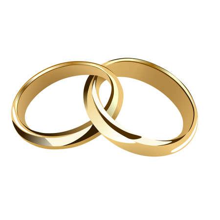 interwined gold wedding rings