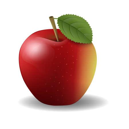 geïsoleerde rode appel illustratie