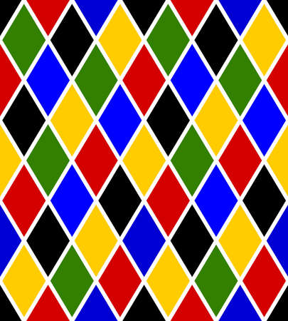 seamless harlequin pattern for carnival and mardi gras Vector Illustration