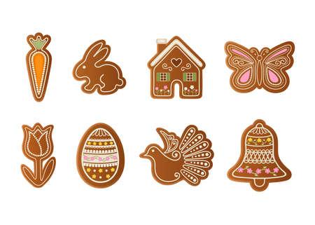 set of easter gingerbreads