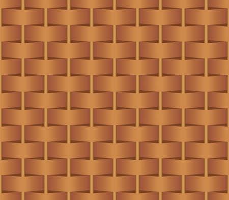 brown wicker basketball seamless pattern