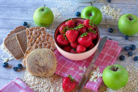 healthy breakfast bread 版權商用圖片