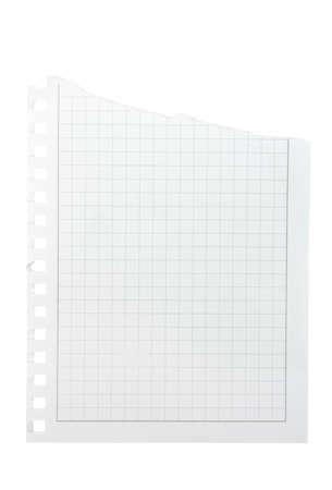 Immagini Stock Carta A Quadretti Isolato Su Uno Sfondo Bianco