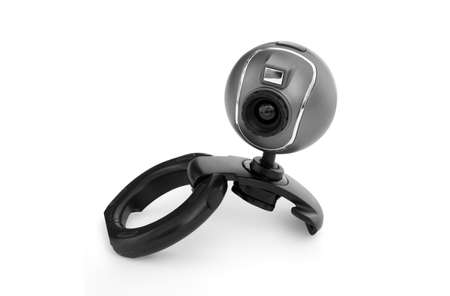 isolated webcam on a white background Foto de archivo