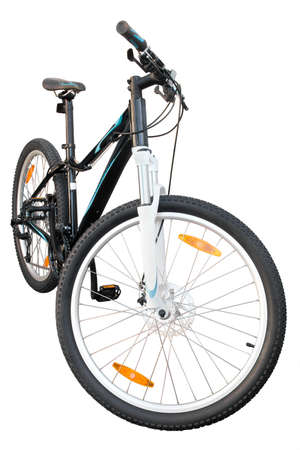 female bicycle on a white background isolated
