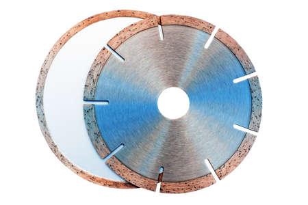 studded diamond blade on white background isolated