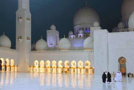 zayed: Sheikh Zayed white mosque at Abu-Dhabi, UAE Stock Photo
