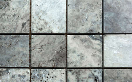 white and grey marble from squares as a background Banque d'images