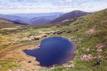 the lake Nesamovyte among Carpathians Mountains