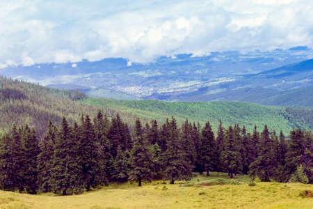 landscape consisting of a Carpathians mountains Imagens