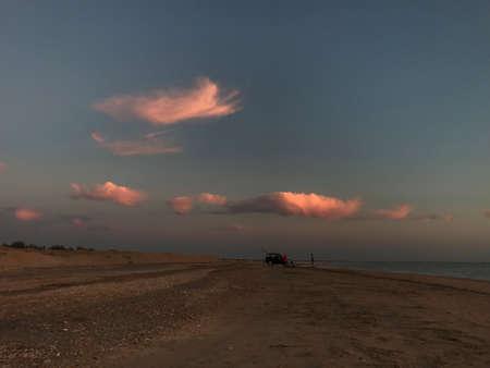 sunset on the Azov sea