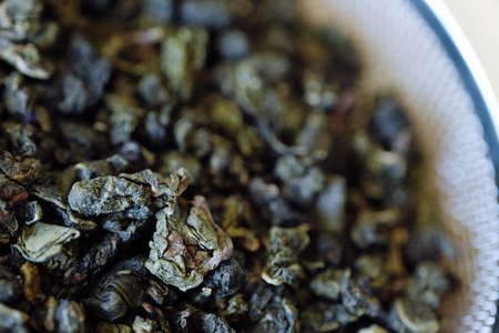 Milk Oolong tea natural petals green view Stock Photo