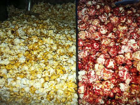 Salty and sweet popcorn at the cinema