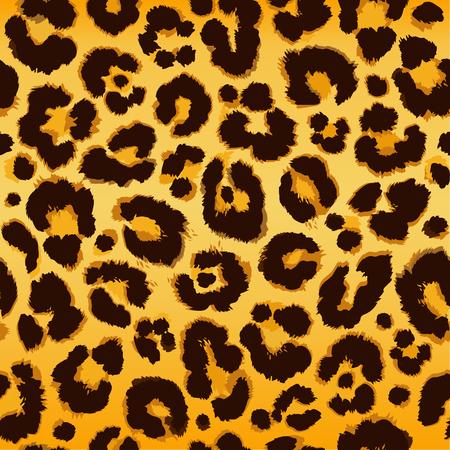 Seamless leopard pattern. Vector. Vettoriali